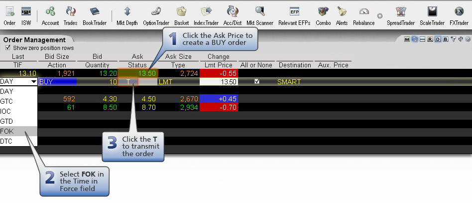 fill or kill orders interactive brokers